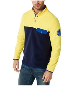 Club Room Mens Colorblocked Pullover Fleece Jacket