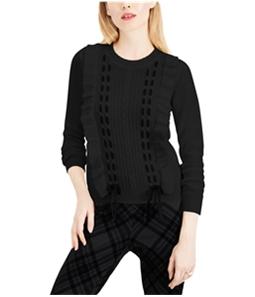 maison Jules Womens Ruffle Lace Pullover Sweater