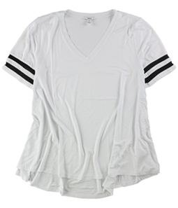 bar III Womens Illusion Varsity Basic T-Shirt