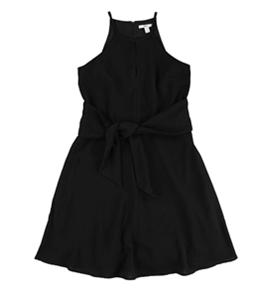 bar III Womens Tie Waist Halter A-line Dress