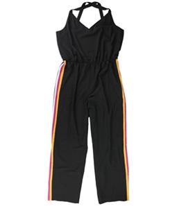 bar III Womens Varsity-Stripe Jumpsuit