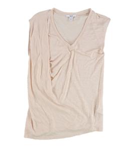 bar III Womens SS Twist Slub Basic T-Shirt