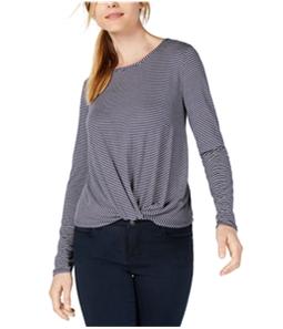 maison Jules Womens Twisted Hem Basic T-Shirt