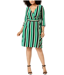 I-N-C Womens Faux Wrap Cocktail Dress