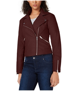bar III Womens Quilted Moto Jacket