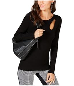 I-N-C Womens Teardrop Cutout Pullover Sweater