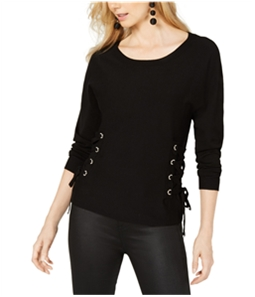 I-N-C Womens Lace Up Sides Pullover Sweater