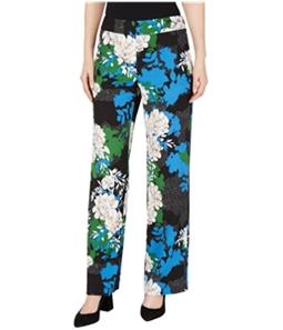 I-N-C Womens Floral Crepe Casual Wide Leg Pants