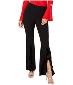 I-N-C Womens Split Ruffle Casual Wide Leg Pants