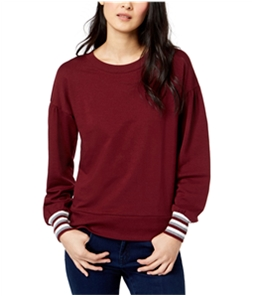 maison Jules Womens Striped Cuff Pullover Sweater