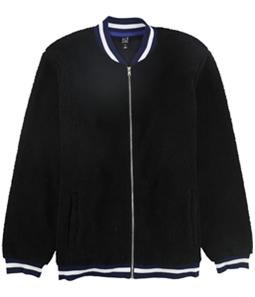Ideology Mens Striped Rib Fleece Jacket