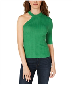 bar III Womens One-Shoulder Pullover Sweater
