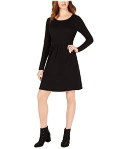 maison Jules Womens Pleated Fit & Flare Dress