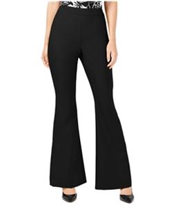 I-N-C Womens Solid Casual Wide Leg Pants