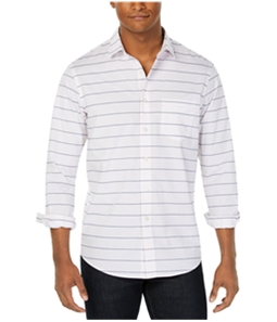 Club Room Mens Preston Stripe Button Up Shirt