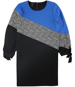 Alfani Womens Colorblocked Shift Dress