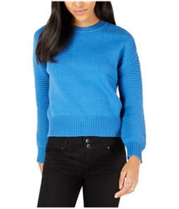 maison Jules Womens Ribbed Sleeve Pullover Sweater