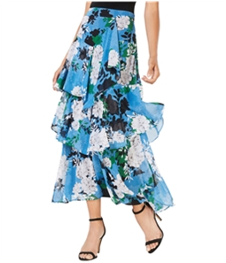 I-N-C Womens Ruffled Tiered Floral Maxi Skirt