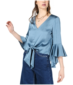 bar III Womens Tie-Front Knit Blouse