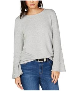 I-N-C Womens Pearl Beaded Sweatshirt