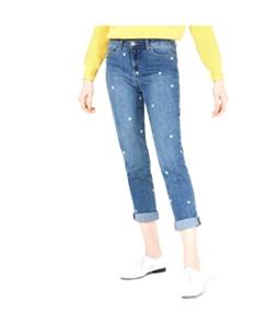 maison Jules Womens Polka Dot Boyfriend Fit Jeans