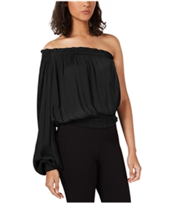 bar III Womens Solid One Shoulder Blouse