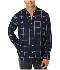 I-N-C Mens Star Studded Button Up Shirt