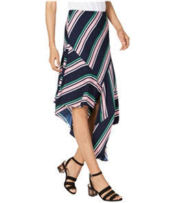 bar III Womens Striped Asymmetrical Skirt