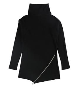 bar III Womens Zipper Tunic Sweater