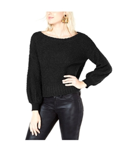 bar III Womens Bishop Sleeve Pullover Sweater