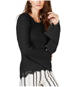 I-N-C Womens Lace Bell-Sleeve Knit Sweater