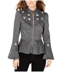 I-N-C Womens Peplum Jacket