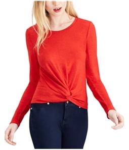maison Jules Womens Twist Front Basic T-Shirt