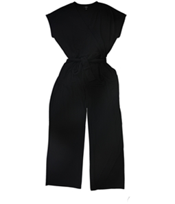 Alfani Womens Belted Surplice Jumpsuit