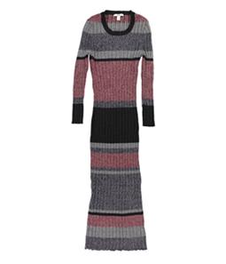 bar III Womens Striped Sweater Dress