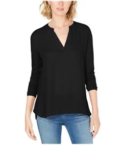 I-N-C Womens Split Neck Pullover Blouse