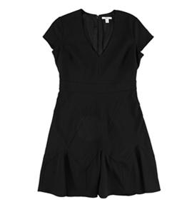 bar III Womens Seam-Detail Fit & Flare Dress
