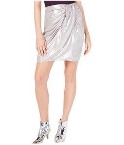I-N-C Womens Satin Sarong Midi Skirt