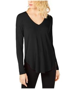 I-N-C Womens Curved Hem Basic T-Shirt