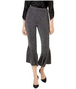 I-N-C Womens Ruffle-Leg Casual Cropped Pants