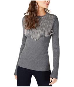 I-N-C Womens Embellished Fringe Pullover Sweater