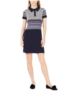 maison Jules Womens Striped Sweater Dress