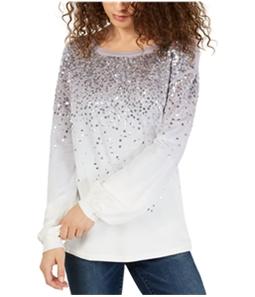 I-N-C Womens Sequined Sweatshirt
