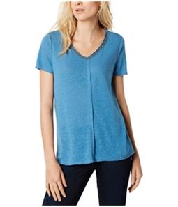 I-N-C Womens Embellished V-Neck Pullover Blouse