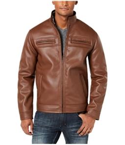 I-N-C Mens Lionel Faux-Leather Jacket