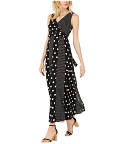 I-N-C Womens Multi-Dot Maxi Wrap Dress