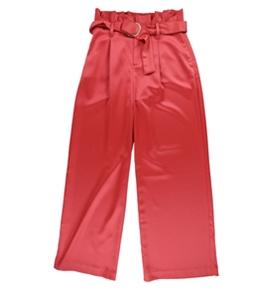 bar III Womens Paperbag-Waist Casual Wide Leg Pants