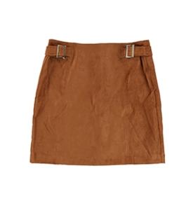 bar III Womens Faux-Suede Mini Skirt