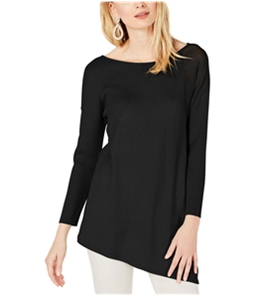 I-N-C Womens Mixed-Knit Pullover Sweater
