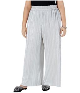I-N-C Womens Crinkle Shine Casual Wide Leg Pants